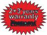 2+3 years warranty